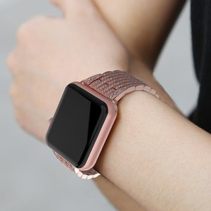Image 5 - Luxury Diamond strap for Apple watch band 40mm 38mm iwatch band 42mm 44mm stainless steel bracelet For Apple watch Series 6 SE 5