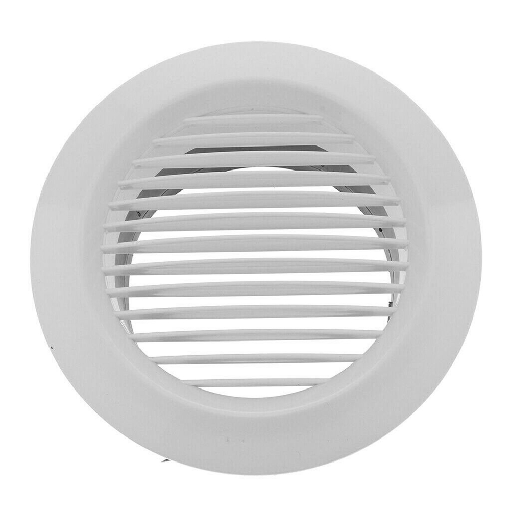 Air Vent Grille Circular Indoor Ventilation Outlet Duct Pipe Cover Cap HVR88