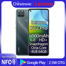 Lenovo K12 Pro Lemon 64gb 4gbb WCDMA/LTE/GSM NFC Adaptive Fast Charge Octa Core Fingerprint Recognition