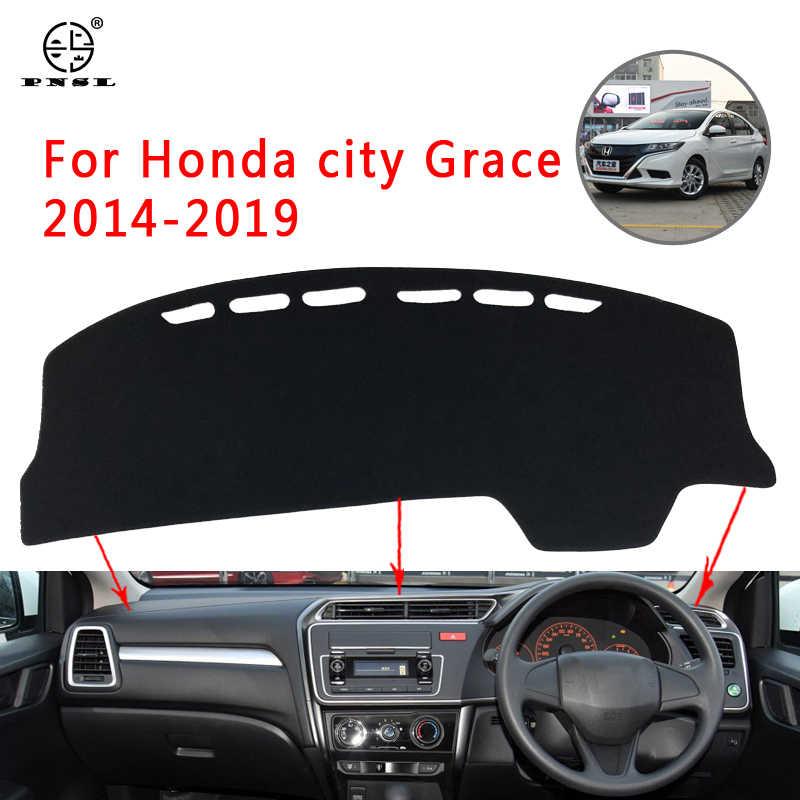 Pnsl Auto Dashboard Cover Dash Mat Dash Pad Tapijt Voor Honda City Grace 2014-2019 Zon Bescherming Anti- slip Anti-Uv