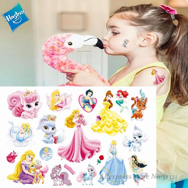 Hasbro Mermaid Princess Arie Children Cartoon Temporary Tattoo Sticker For Girl Cartoon Toy  Waterproof Birthday Party Girl Gift