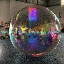 Гигантский ПВХ магический зеркальный шар, диско надувной золотой и серебряный отражающий шар подходит для украшения событий