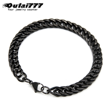 oulai777 men bracelets stainless steel gifts boy cuban link