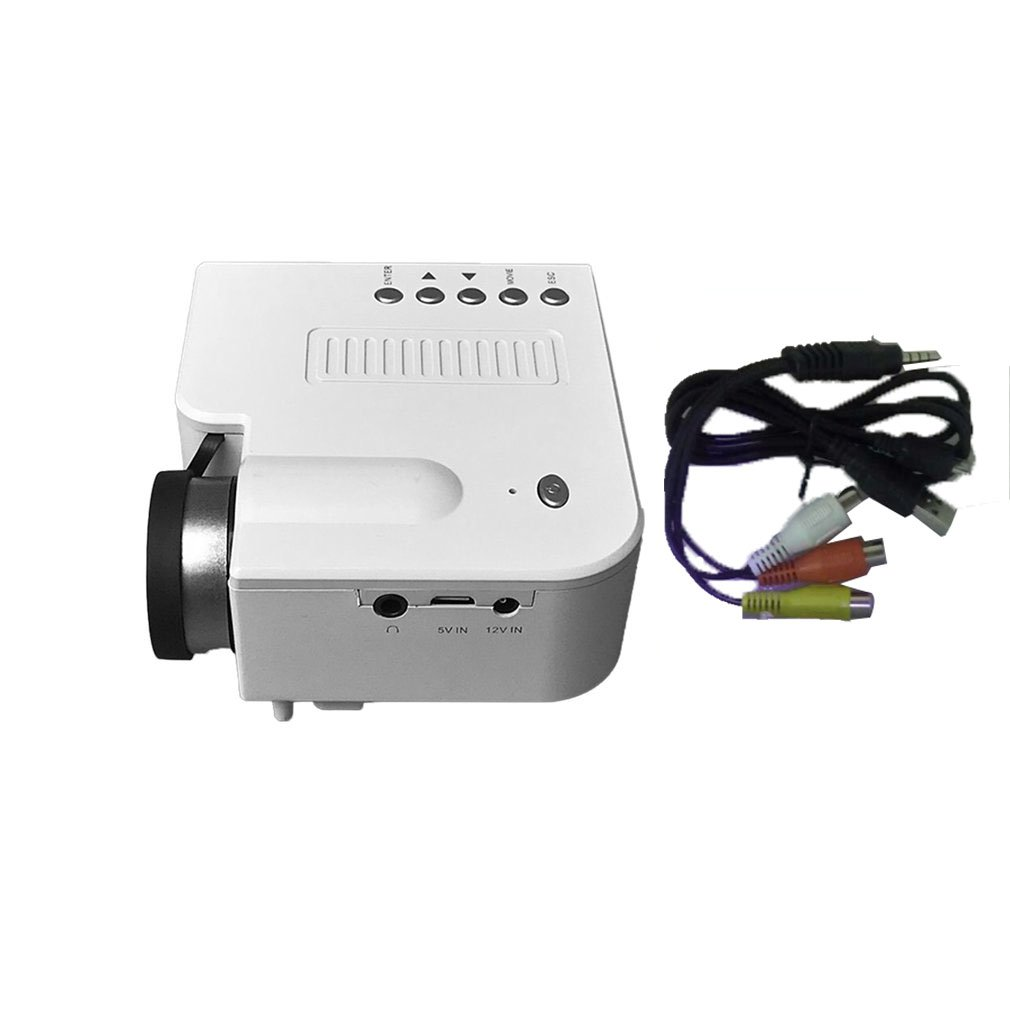 UC28C+ Home Projector Mini Miniature Portable 1080P HD Projection Mini LED Projector For Home Theater Entertainment