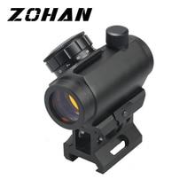 цена на Tactical Optics 1x28 mm Red Dot Scope Sight with Low High Rail Mount for Handgun and Rifles Scope Hunting Use Black M1K