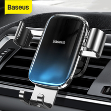 Baseus Gravity Car Phone Holder for Samsung Universal Car Air Cent Vent Mount Smartphone Metal Car Charging Stand Phone Holder
