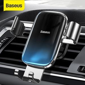 Image 1 - Baseus重力車携帯電話ホルダーユニバーサルカーエアコンセントベントマウントスマートフォン金属車充電スタンド電話ホルダー