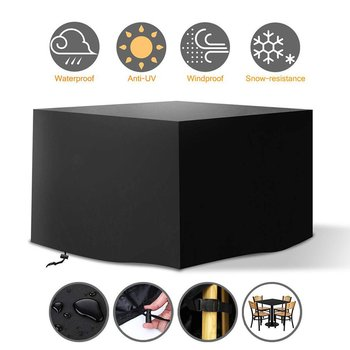 New 210D Oxford Furniture Dustproof Cover For Rattan Table Cube Chair Sofa Waterproof Rain Garden Outdoor Patio Protective Case image