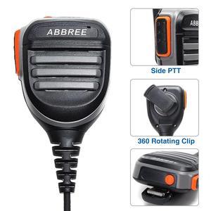 Image 2 - 2PCS ABBREE AR 780 עמיד למים כתף רמקול מיקרופון למכשיר קשר TH UV8000D MD 380 Baofeng UV S9 BF UVB3 בתוספת AR F8