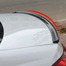 1,5 M coche 5D de fibra de carbono de spoiler tira de goma para Audi Q3 Q5 SQ5 Q7 A1 A3 S3 A4 S4 RS4 RS5 A5 A6 S6 C6 C7 S5 A7 S7 A8