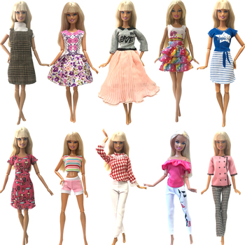 NK 2021Hot sprzedaży sukienka dla lalek moda stroje codzienna odzież akcesoria ubrania dla Barbie lalki dla dzieci zabawki hurtownia 06 JJ tanie i dobre opinie NK Fantastic Fairyland Tkanina CN (pochodzenie) Doll Clothes Dziewczyny Styl życia Produkt pochodny Suit Fit For Barbie Doll