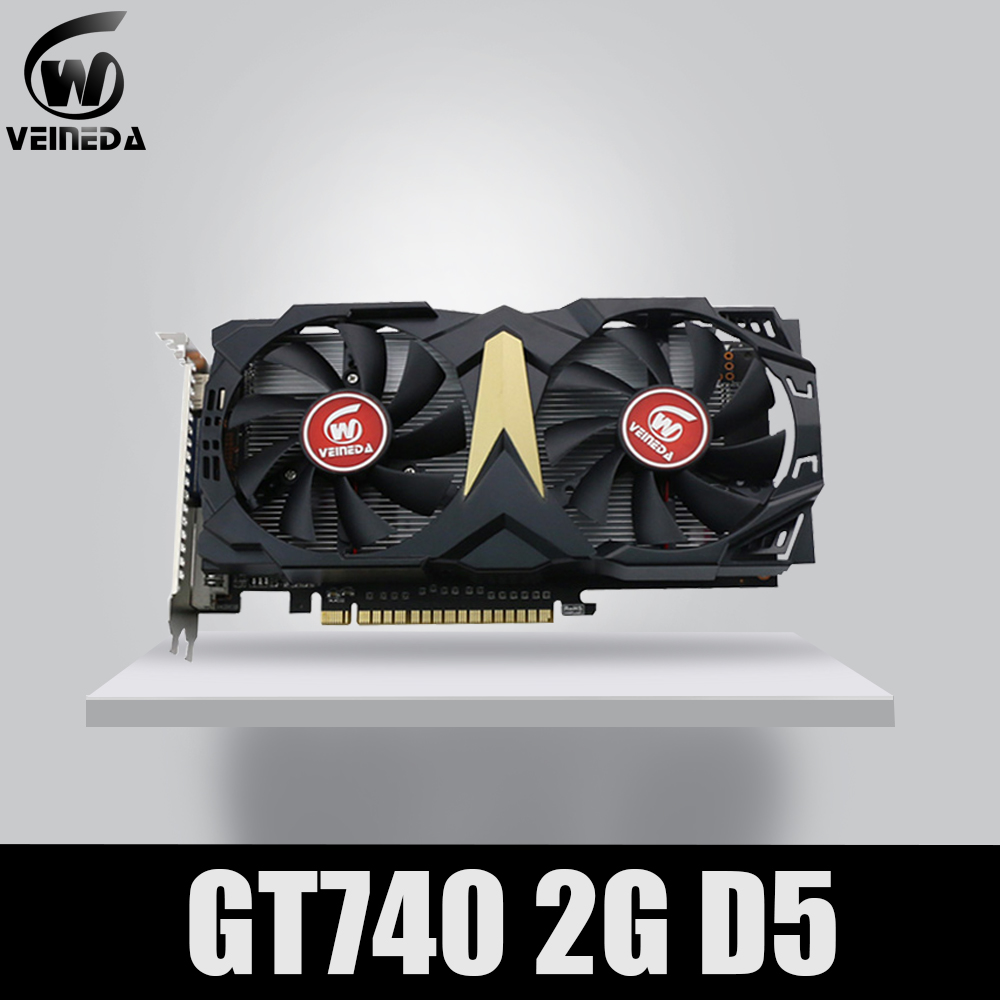VEINEDA Video Card Original New Graphic Card GT740 2GB GDDR5 128BIT For NVIDIA Geforce Games