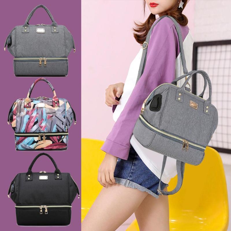 USB Interface Travel Nursing Bags Baby Diaper Backpacks Mummy Maternity Nappy Shoulder Handbags Large Capacity Diaper Bags