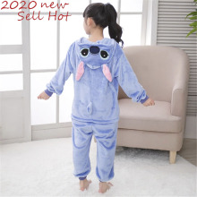 Onesie Kids Pajamas Stitch Anime Onepiece Costume Rompers Jumpsuits Cosplay Girls Boys