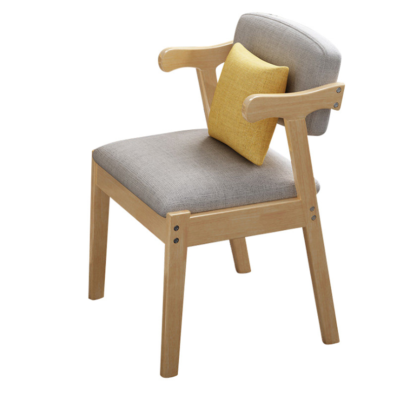 Нордический обеденный стул из твердой древесины, современный минималистичный спинка офисного кресла, стул, модный стол, стул, домашний