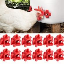 12 pçs frango codorna aves montagem lateral horizontal mamilos bebedor waterer alimentação de água limpa fazenda pintainho automático beber