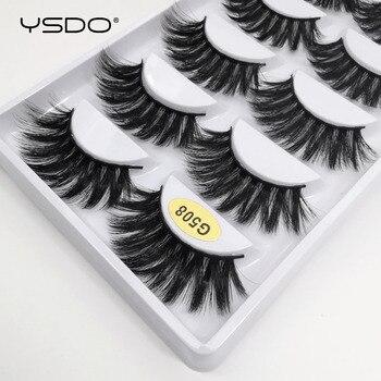 YSDO 1/3/5 pairs eyelashes natural long faux 3d mink lashes makeup thick false eyelashes wispy mink eyelashes maquiagem cilios