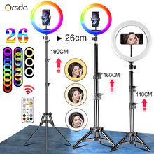 Orsda 10-12 Inch Led Ring Light With Tripod RingLight Selfie Ring Light for Makeup Video Live Aro De Luz Para Hacer Tik Tok