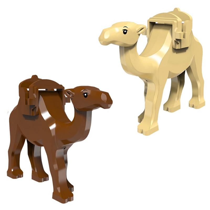 Camel Building Blocks for Baby Kids Animal Figure Bricks Model Dolls two colors Birthday Gift for Children Gift Camel