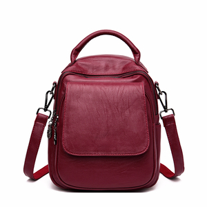 Image 1 - Female Multifunction Backpacks For Girls Sac A Dos Women Leather Backpacks Large Capacity School Bags For Girls Back Pack New