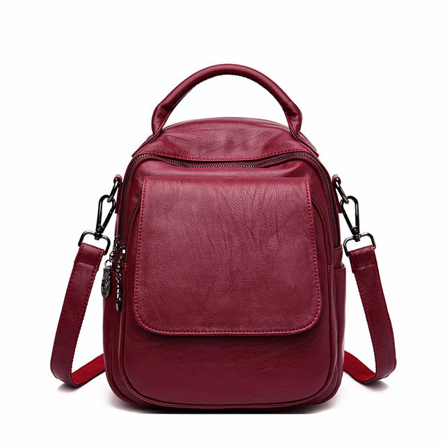 Female Multifunction Backpacks For Girls Sac A Dos Women Leather Backpacks Large Capacity School Bags For Girls Back Pack New