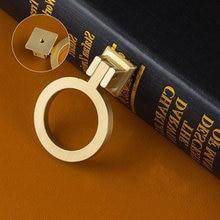 2 pcs 1.1 2.5 Dresser Pulls Knobs Cabinet Handle Door Knob Ring Drawer Handles Drop Brushed Brass Gold Kitchen Pull