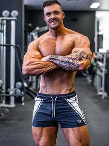 Shorts Men Jogger Bermuda Skinny Fitness Workout Bodybuilding Sport Quick-Dry Summer