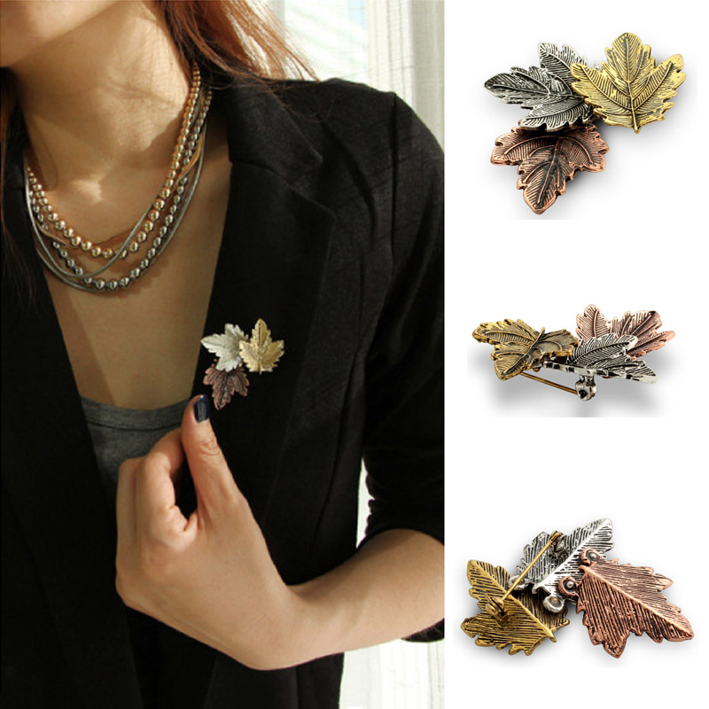 JUJIE Mini Canada Brooch Maple Leaves Brooches For Women 3 Color Metals Brooch Decorative Brooch Travel Souvenir Jewelry Gifts 1