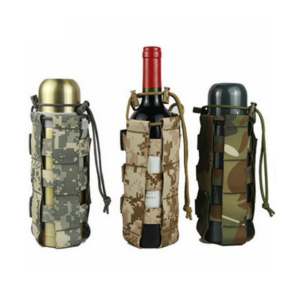 Oxford Cloth Prevent Shock Water Bottle Pouch Outdoor Activities Thicken Cup Bag With D-Type Hanging Buckles