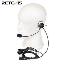Retevis 2 Pin Oortelefoon Mic Vinger Ptt Headset Voor Kenwood Baofeng UV 5R BF 888s Retevis H777 Tyt Ham Radio Walkie Talkie headset