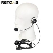 Retevis 2 Pin mikrofon parmak PTT kulaklık Kenwood BAOFENG UV 5R BF 888s Retevis H777 TYT amatör radyo Walkie Talkie kulaklık