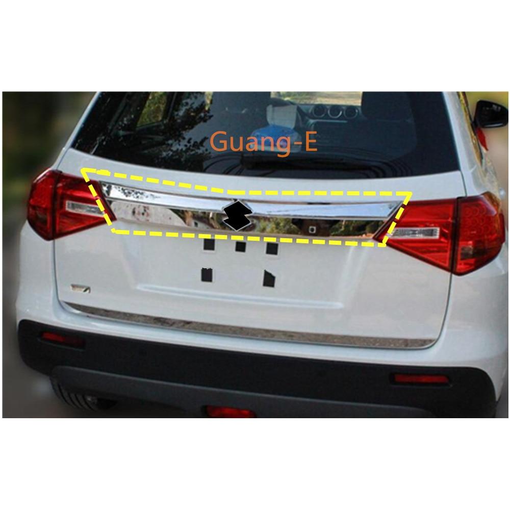 Hot Sale For Suzuki Vitara 2016 2017 2018 2019 Car Auto Rear Back Bumper Cover ABS Chrome Wrap License Trim Frame Lamp Panel