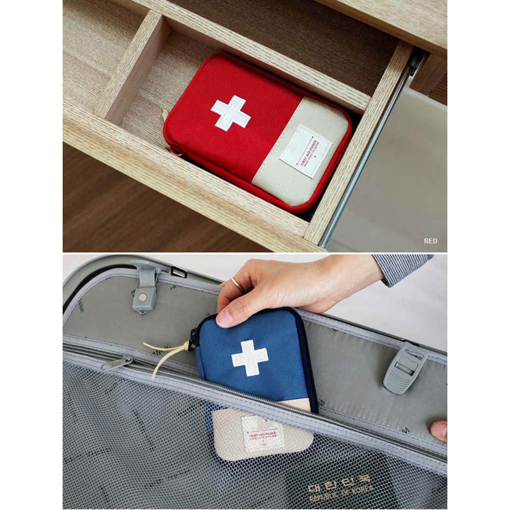 Empty First Aid Bag Emergency Pouch Travel Medicine Pill Storage Bags Outdoor Survival Organizer EIG88