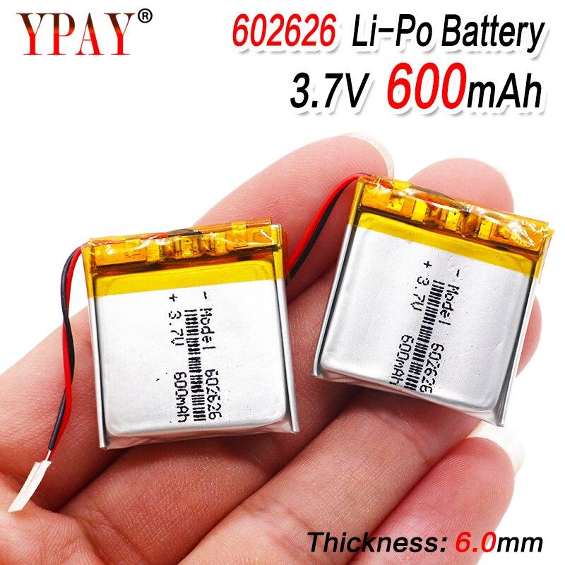 Полимерный литий-ионный/литий-ионный аккумулятор 600mAH 602525 602626 PLIB для умных часов GPS