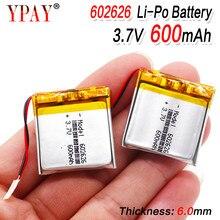 Bateria do íon do lítio do polímero de 600 mah 602525 602626 plib/li-ion para o relógio esperto gps