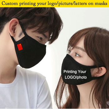 2pcs a lot Adult mouth Mask Print Country Flag COTTON Big Face Custom Printing Your LOGO mask Windproof Mouth-Care Double Layer - sale item Mask