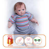 20 Inch Reborn Dolls Toy Baby Doll Baby Silicone Doll Simulation Soft Newborn Lifelike Babies Baby Reborn Toys For Kid