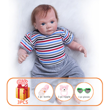 20 Inch Reborn Dolls Toy Baby Doll Baby Silicone Doll Simulation Soft Newborn Lifelike Babies Baby Reborn Toys For Kid цена 2017