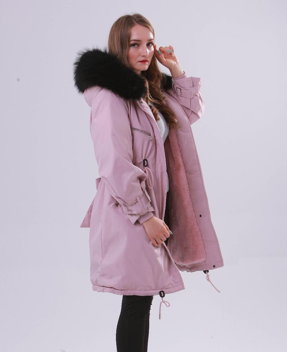 Large Natural Raccoon Fur Winter Jacket Women Hooded 19 Long Parkas For Female Thick Slim Down Winter Coat Women Waterproof 13