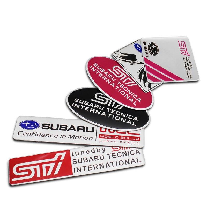 1 шт., стильный алюминиевый 3D STI WRC логотип, наклейки, эмблема для SUBARU LEGACY Forester Outback Rally WRC VRC XV Impreza