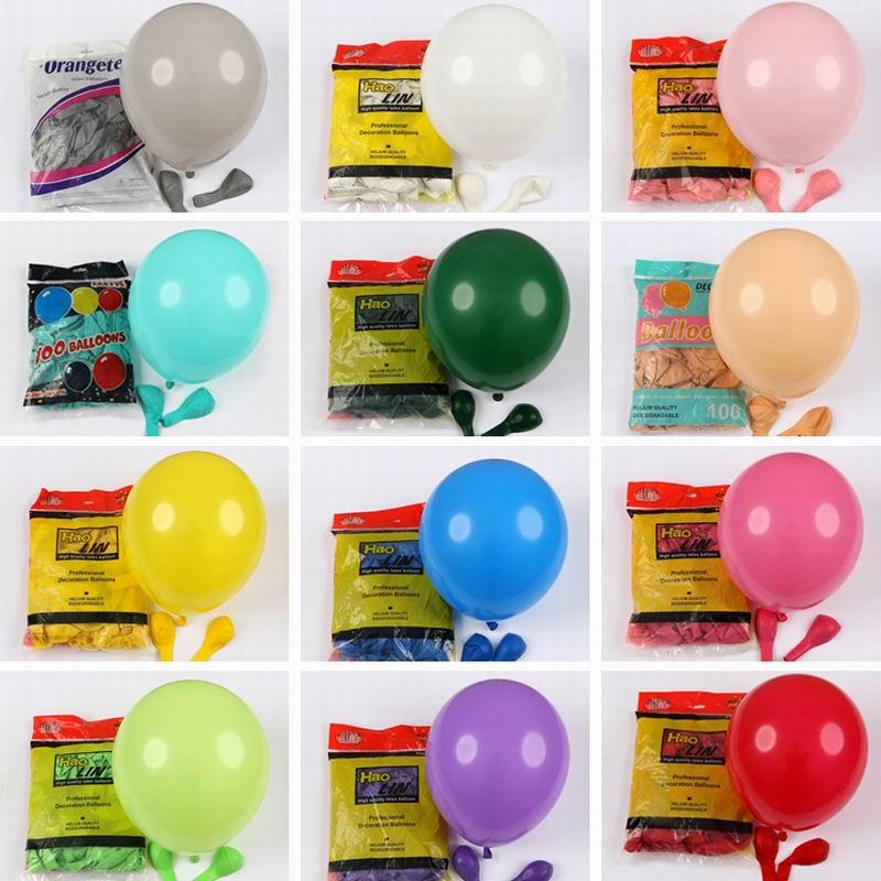 10 шт./лот, 12 дюймов, толщина 2,8 г, вечерние шары на день рождения, украшения, свадебные матовые латексные воздушные шары, розовые, белые, вечерн...