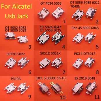 10PCS For Alcatel OT 4034 5048 5059 5024 5056 5012 5052 D X 7040n One Touch Idol Mini Charging Micro USB Port Socket Connector image
