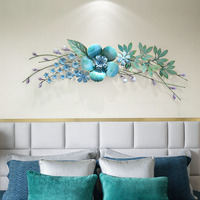Creative pastoral style simulation plant porch entrance hall decoration pendant wrought iron wall hanging stickers