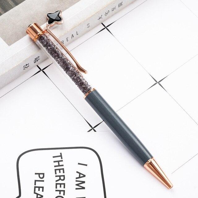 1pcs Kawaii Ball Pens Metal Ballpen Four-leaf clover Ballpoint Pens Student Pens For School Stationery Office Supplies 1.0mm 5