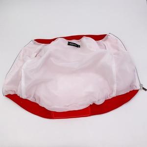 Image 2 - Köpek ceket küçük köpekler için kırmızı Monogram ceket fransız Bulldog kostüm Pug ceket PC1042