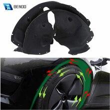 2 Packs Vorderrad Sound Trittschalldämmung Matten für Tesla Modell 3 Schalldichte Schutzhülle Pad Audio Noise Isolierung und Feucht Schwarz