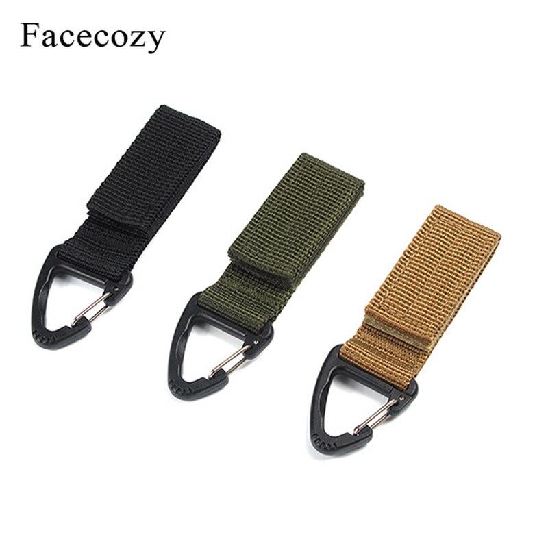 Facecozy 1 Piece Outdoor Tools Tactical Belt Buckle Keychain Multifunctional Buckles Adjustable Climbing Portable Hook Loop