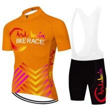 NEW Spain team ANDALUCIA cycling jersey culotte con tirantes de ciclismo traje ciclismo hombre verano