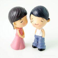 Resina adorável boneca para diy acessórios de casa de bonecas amantes casal casa de bonecas decoração presente brinquedos para crianças casa