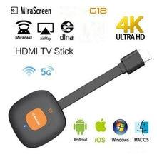 Mirascreen g18 tv stick 4k беспроводной hdmi wifi Дисплей dongle